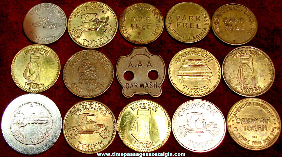 (15) Assorted Auto Related Advertising Tokens or Coins