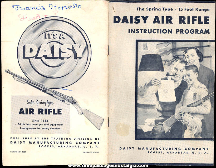 ©1959 Daisy Air Rifle Instruction Program and Advertising Booklet