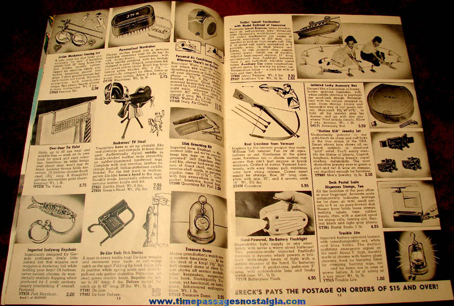 1955 - 1956 Breck's of Boston Gift and Novelty Catalog