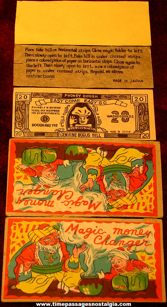 Small Old Colorful Cardboard Magic Money Changer Wallet