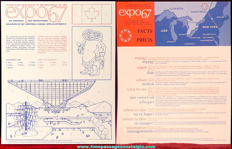 Montreal Canada Expo '67 World's Fair Edu Kit Folder With Contents