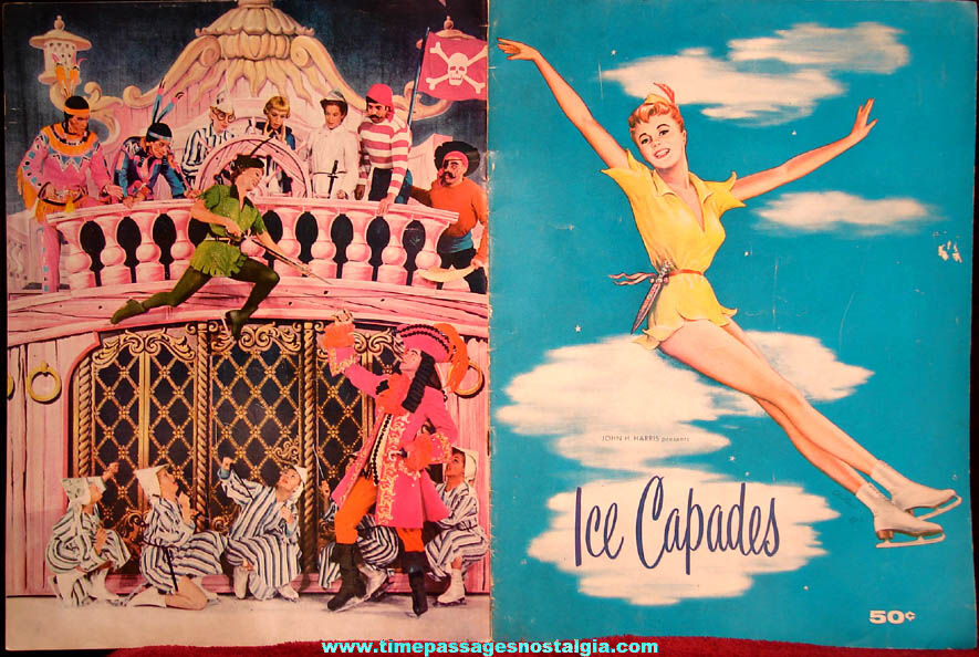 ©1955 Ice Capades Peter Pan Production Advertising Souvenir Program Booklet