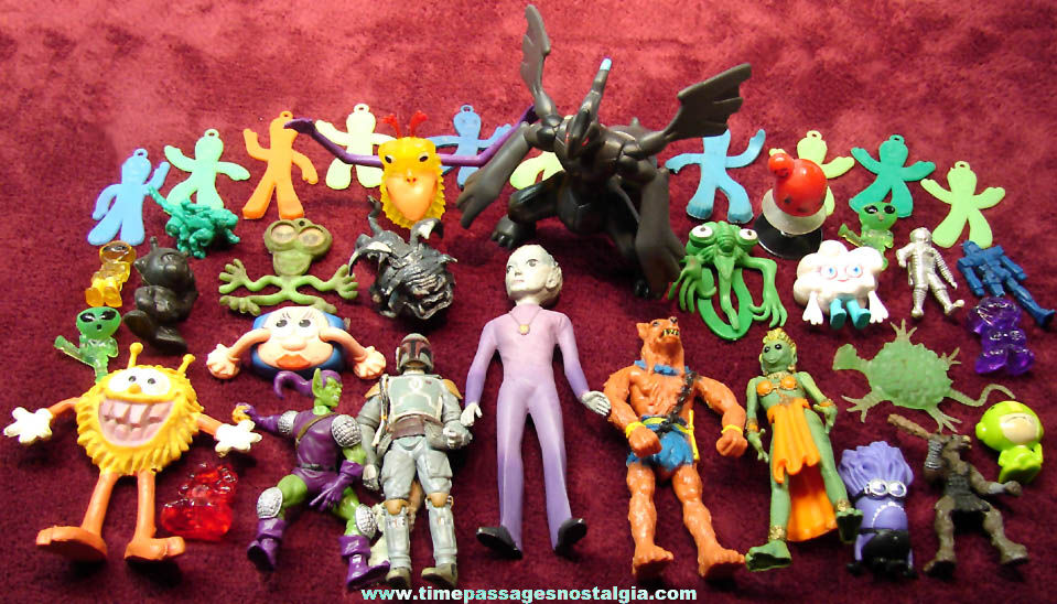 (37) Alien Martian Creature Monster Robot Character and More Novelty Toy Figures