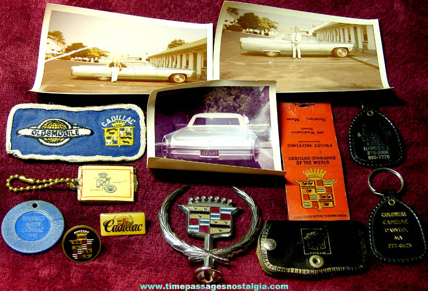 (13) Different Old Cadillac Automobile Related Advertising and Premium Items