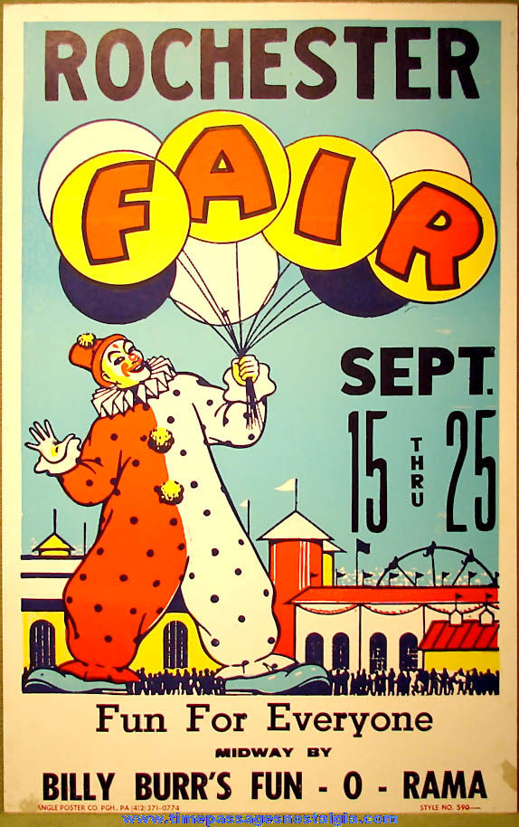 Colorful 1988 Rochester New Hampshire Fair Advertising Poster