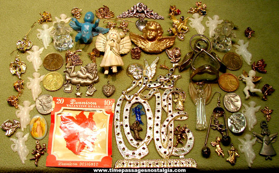 (85) Small Metal, Glass & Plastic Religious Angels and Cupids