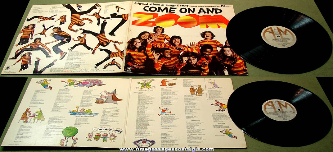 1970s Come On and Zoom Boston Massachusetts Children's Television Show Record Album