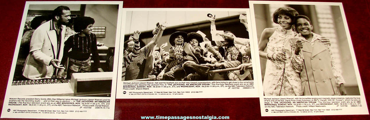(3) Different ©1992 ABC The Jacksons: An American Dream Movie Publicity or Advertising Photographs