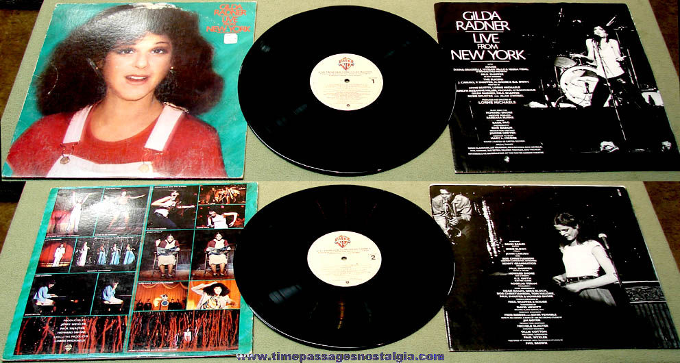 ©1979 Gilda Radner Live From New York Warner Brothers Comedy Record Album