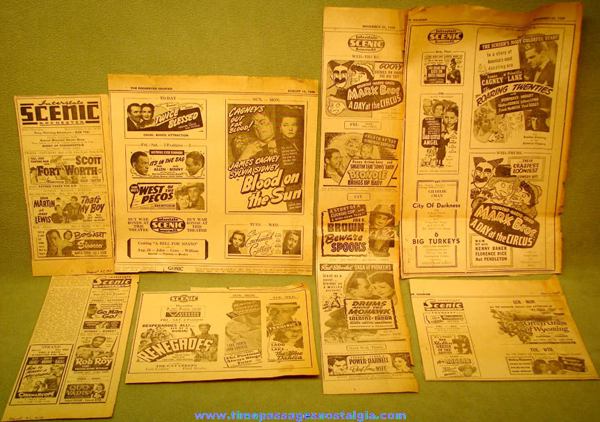 1939 – 1954 Rochester New Hampshire Scenic Theatre Movie Advertisements