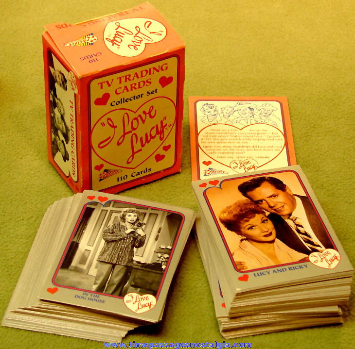 ©1991 Boxed Collector Set of (110) I Love Lucy CBS Television Trading Cards