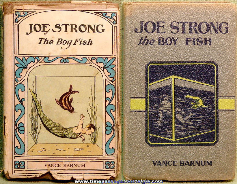 1916 Joe Strong The Boy Fish Hard Back Book by Vance Barnum