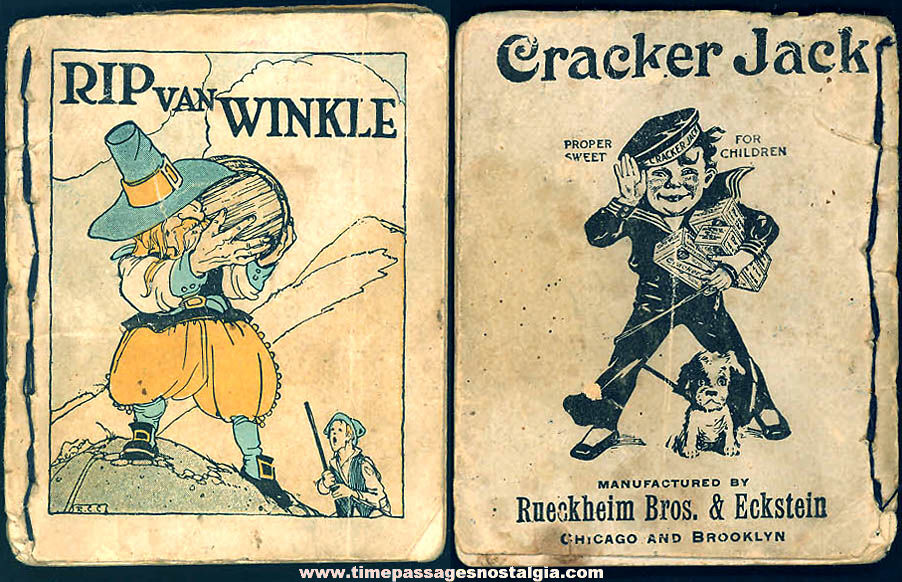 ©1916 Cracker Jack Pop Corn Confection Advertising Rip Van Winkle Toy Prize Booklet