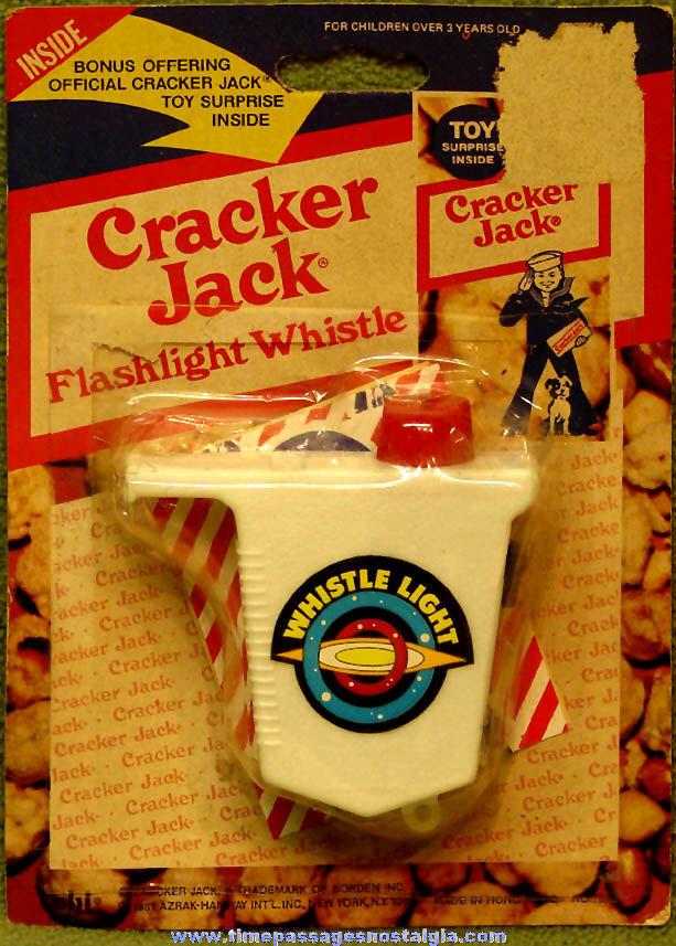 Unopened ©1981 Cracker Jack Pop Corn Confection Advertising Toy Flashlight Whistle