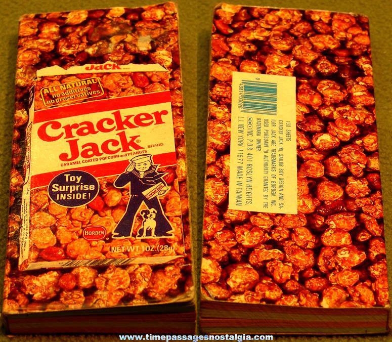 Old Unused Cracker Jack Pop Corn Confection Advertising Note Book