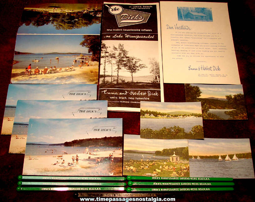 (17) Small Old Weirs Beach New Hampshire Advertising & Souvenir Items