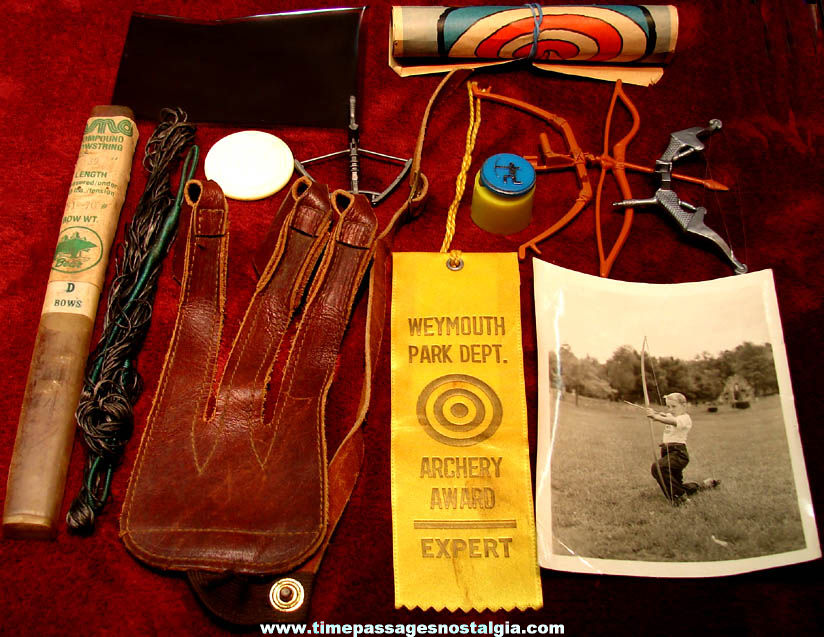 (12) Different Small Old Archery Sports Related Items