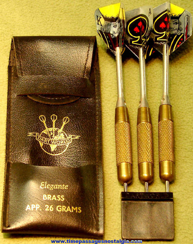 Old Set of (3) Unused Dart World Game Darts with Case