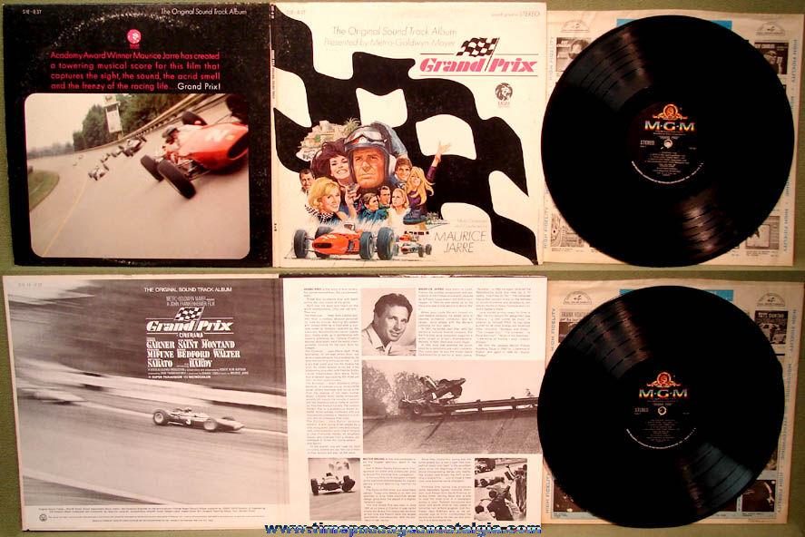 ©1966 MGM Grand Prix Movie Sound Track Record Album with Cover