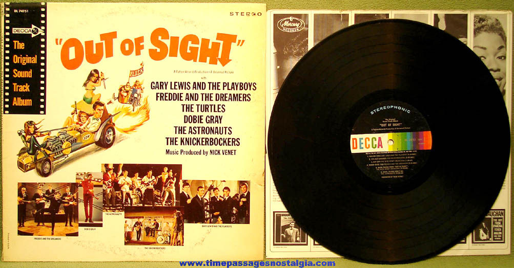 ©1966 Out Of Sight Universal Movie Sound Track Record Album with Cover