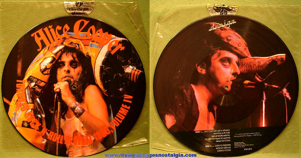 Alice Cooper Toronto Rock 'N' Roll Revival 1969 Volume IV Picture Disk Record Album