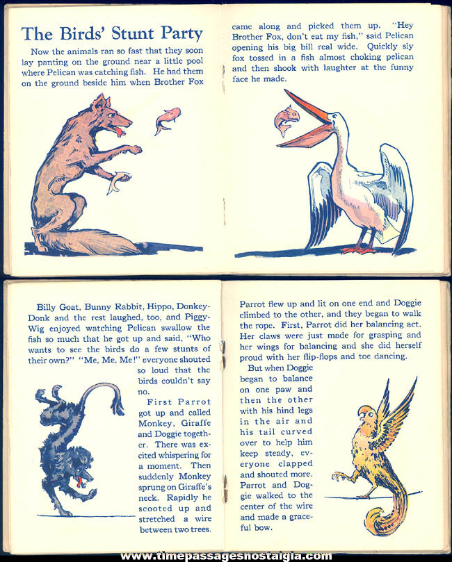 Rare ©1928 Cracker Jack Pop Corn Confection Advertising Premium Animated Jungleland Book
