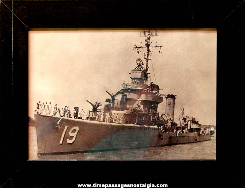 United States Navy U.S.S. Burden R. Hastings DE-19 Destroyer Escort Ship Photograph