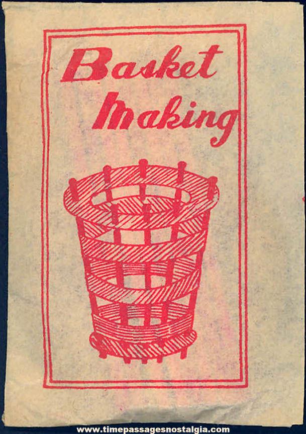Unopened 1930s Cracker Jack Pop Corn Confection Miniature Toy Prize Basket Making Kit