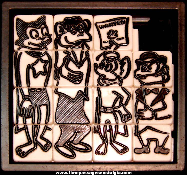 1960s Courageous Cat Cartoon Character Roalex Slide Puzzle