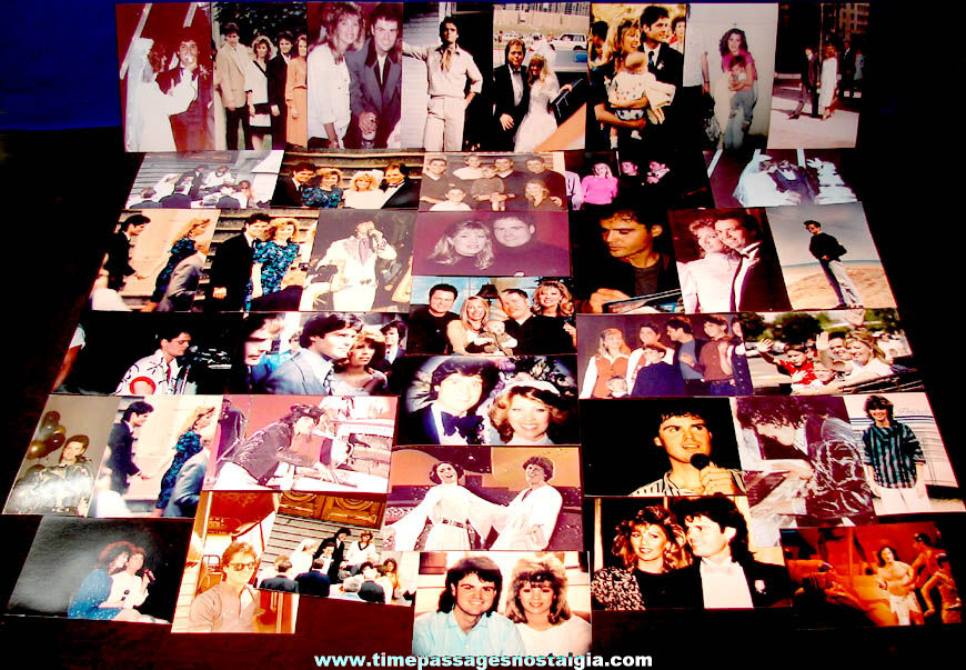 (40) Different Donny Osmond & Osmond Brothers Family Color Photographs