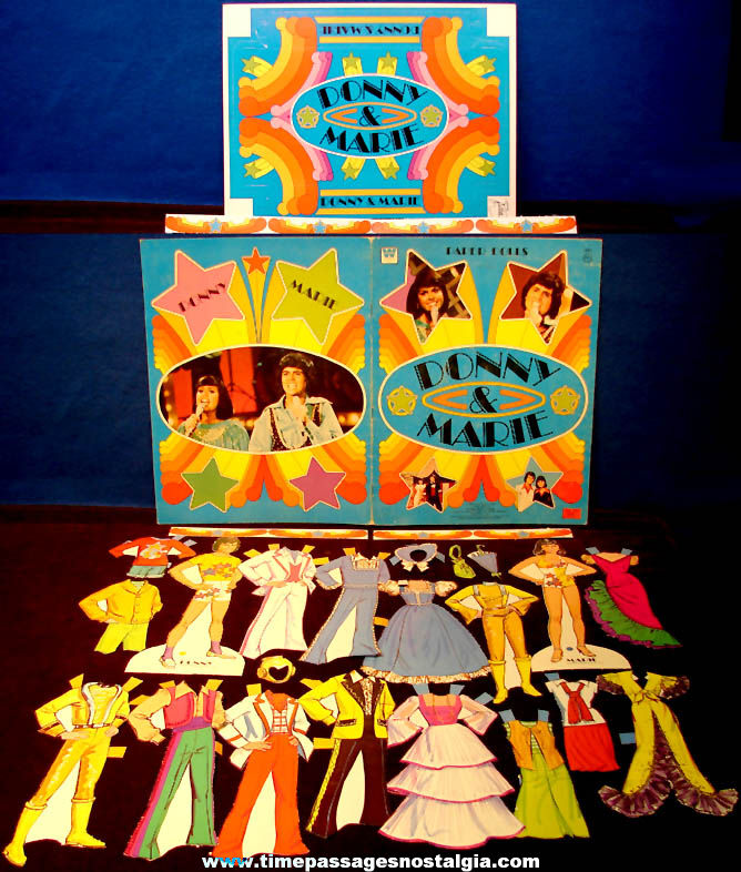 Colorful ©1977 Donny & Marie Osmond Paper Doll Set