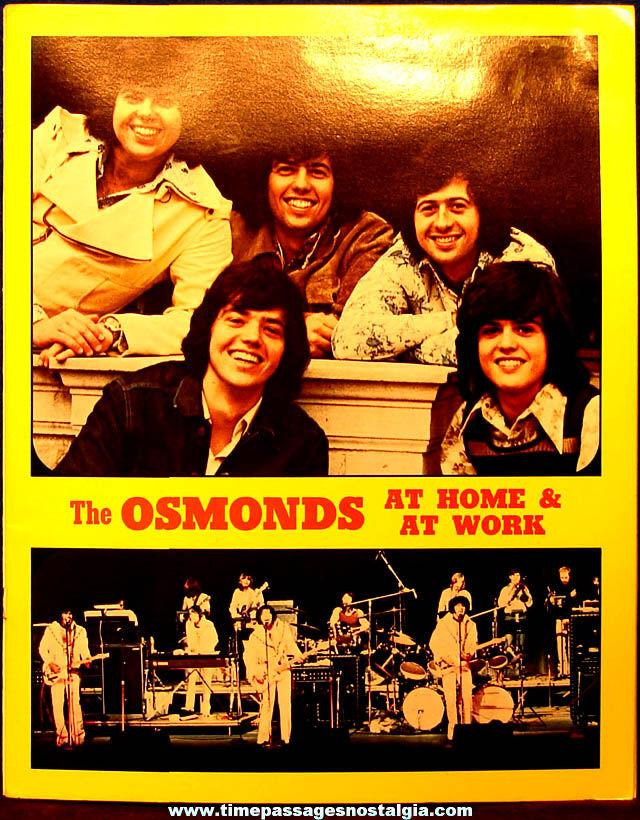 Colorful Unused ©1973 The Fantastic Osmonds Pictorial Activity Album