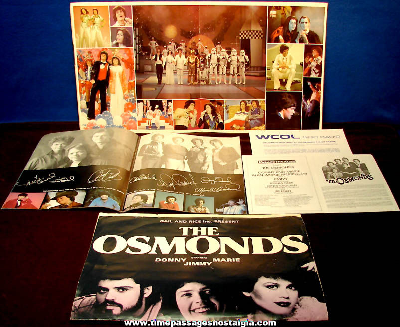 (4) 1970s & 1980s Osmonds Concert & Event Advertising Programs & Poster