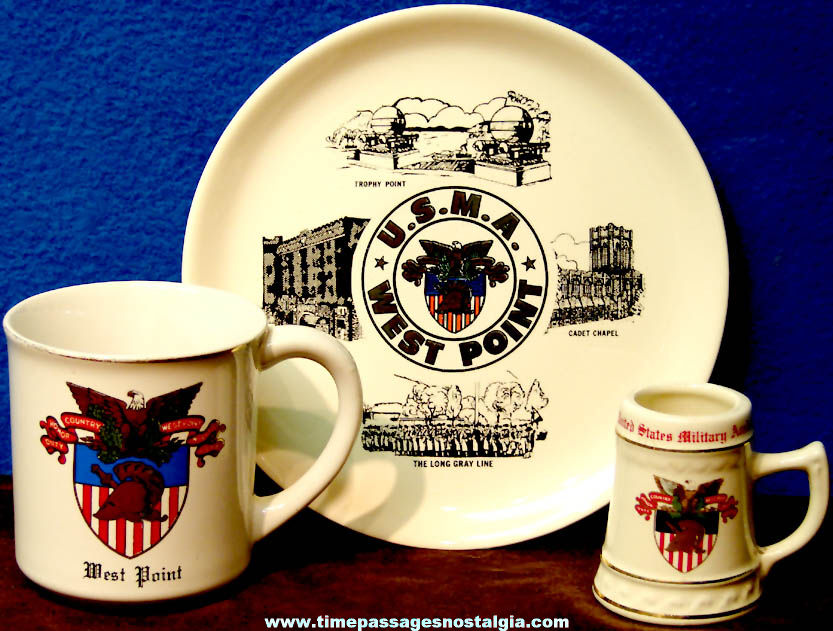 (3) Different Old United States Military Academy West Point Advertising Souvenir Items