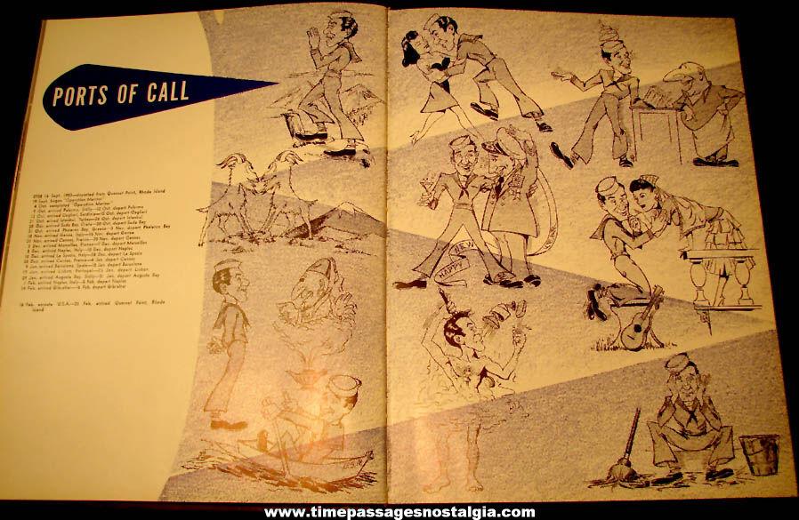 1953 – 1954 United States Navy U.S.S. Bennington CVA-20 Aircraft Carrier Ship Advertising Souvenir Cruise Book