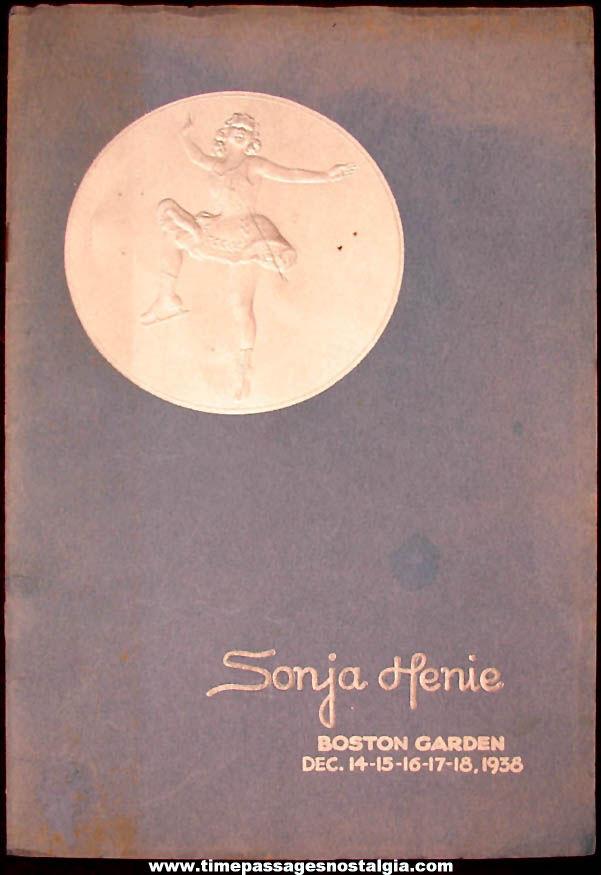 ©1938 Miss Sonja Henie Hollywood Ice Revue Boston Garden Souvenir Program Booklet