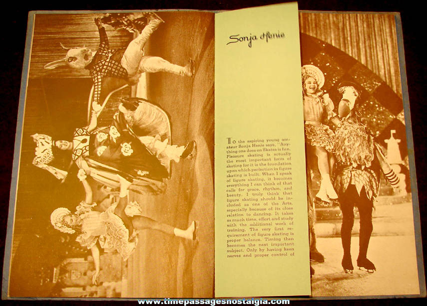 ©1938 Miss Sonja Henie Hollywood Ice Revue Boston Garden Souvenir Program Booklet