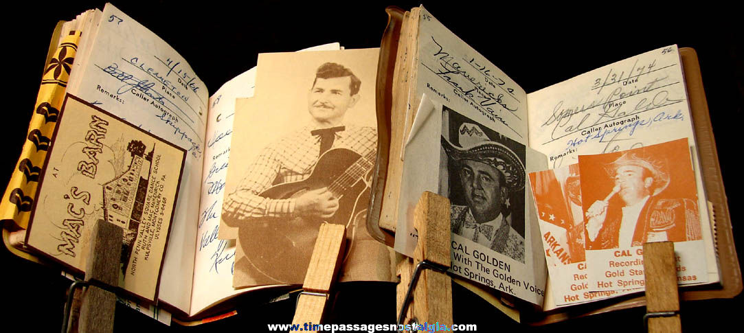(2) 1964 – 1980 Century Club Square Dance Caller Autograph Books (196 autographs – 118 pictures)