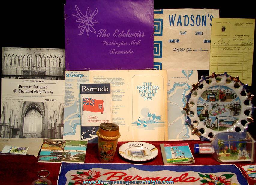 (44) Small Bermuda Caribbean Island Advertising and Souvenir Items