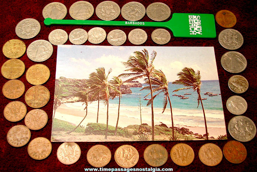 (37) Small Old Barbados Caribbean Island Advertising and Souvenir Items