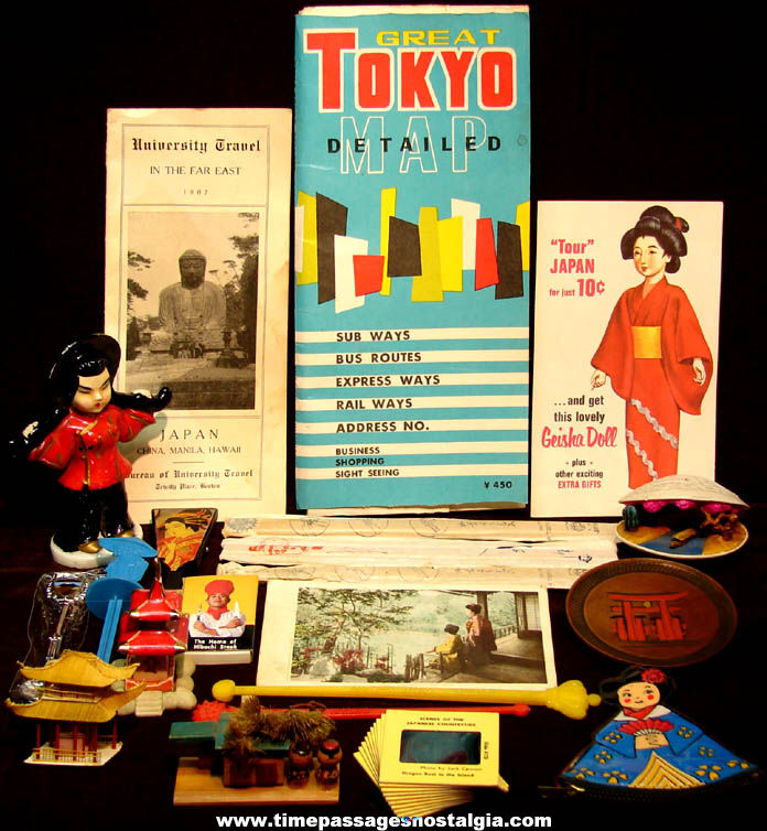 (30) Small Old Japan or Japanese Advertising Souvenir and Novelty Asian Items