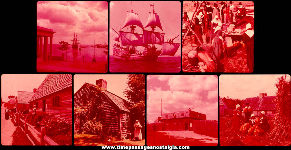 (30) Different Small Old Plymouth Massachusetts & Plymouth Rock Advertising and Souvenir Items