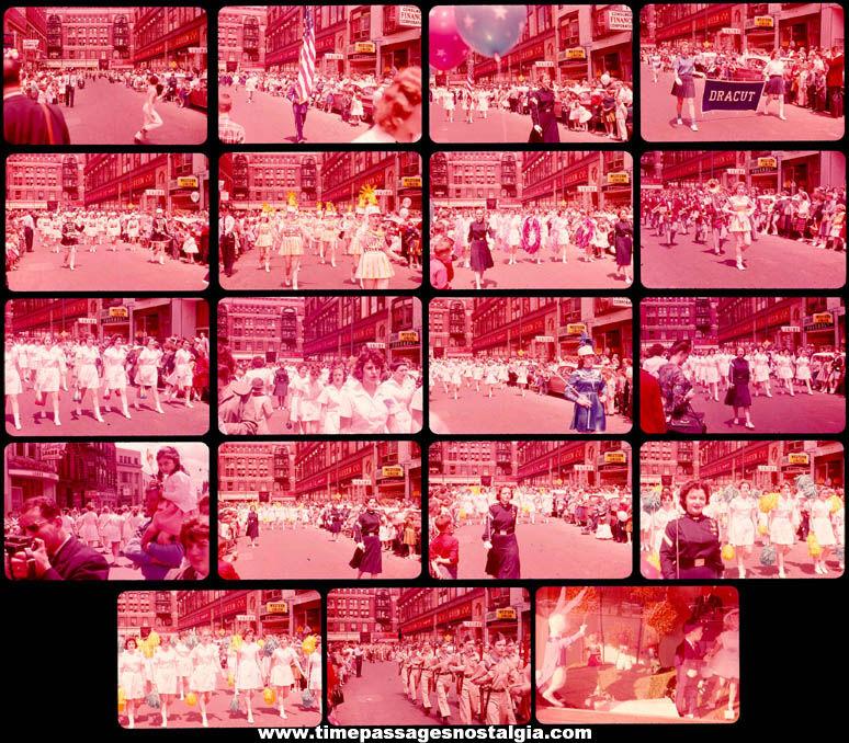 (19) Old Massachusetts City Parade Ektachrome Color Photograph Slides