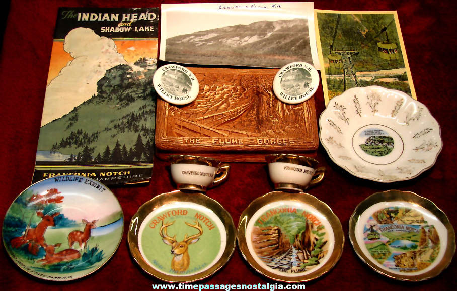 (13) Small Old New Hampshire White Mountains Advertising and Souvenir Items