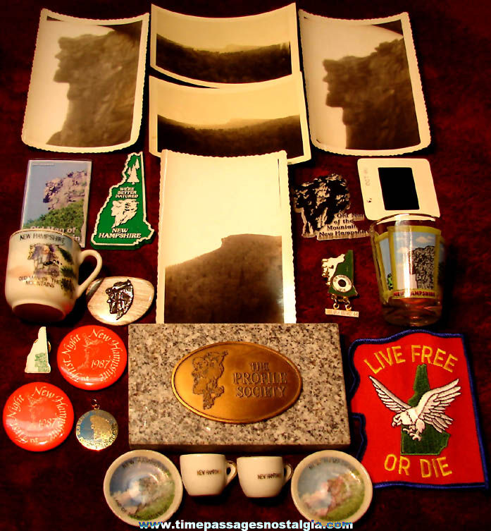 (23) Small New Hampshire Old Man of The Mountains Advertising & Souvenir Items