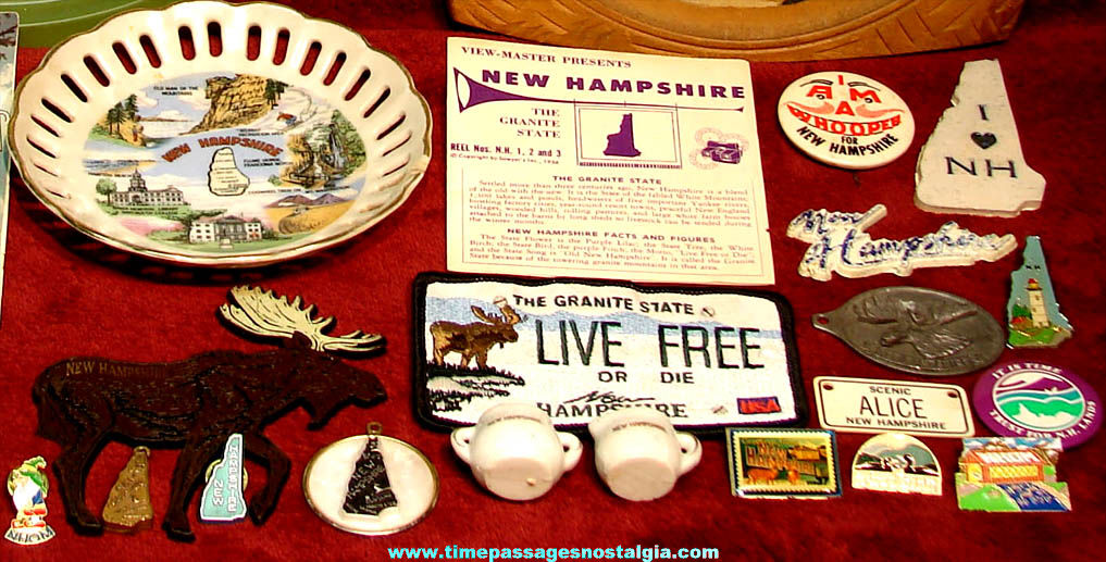 (23) Small Old New Hampshire Advertising & Souvenir Items