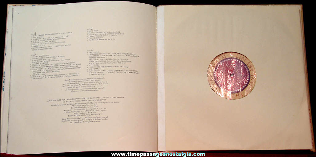 January 1977 United States President Jimmy Carter Inaugural Concert Record Album Set