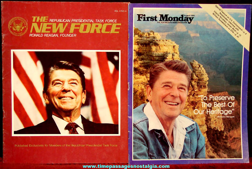 (5) Different 1980s United States President Ronald Reagan Related Political Paper Items
