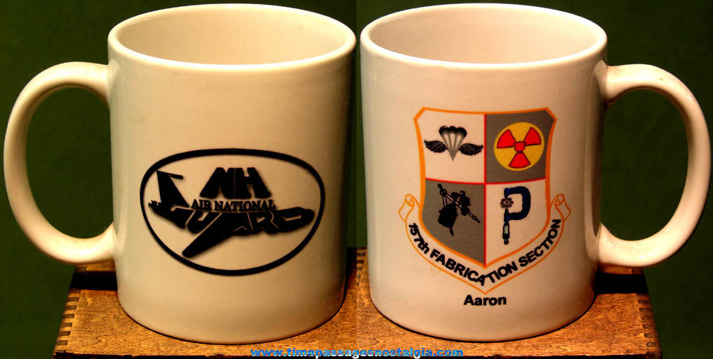 United States New Hampshire Air National Guard Advertising Ceramic Coffee Cup