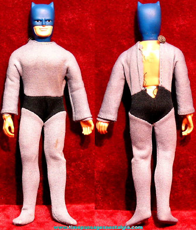 ©1974 Mego Batman Character Action Figure Toy Doll with Outfit